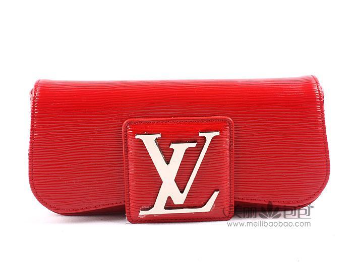 lv路易登威 epi水波纹系列女士手包 m40292红色