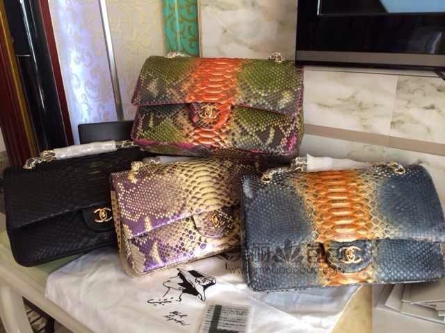 2014超美限量版蟒蛇皮香奈儿包包出货