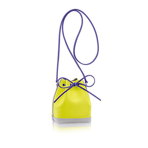 柠檬黄色EPI牛皮NANO NOE LV迷你水桶包,款号M42501