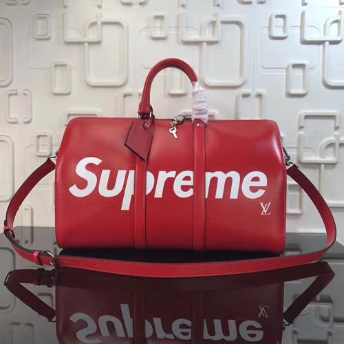 supreme联名系列lv包 掀起红色运动风潮