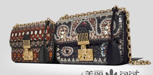 大玩复古风的迪奥Dioraddict包包