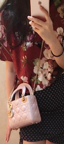 人见人爱的3格lady dior迷你链条包 小羊皮最优迪奥戴妃包