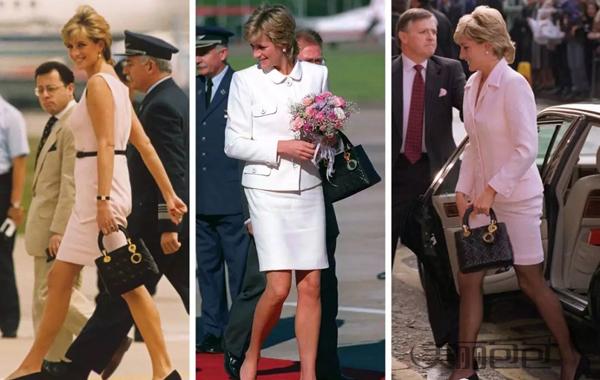 dior戴妃包绸缎水钻尺寸,高仿Lady Dior手袋四格羊皮戴妃包