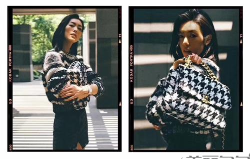 香奈儿秋冬最流行羊毛绒包包和19手袋搭配合辑