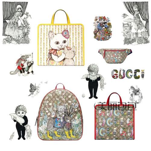 gucci 2020印花系列儿童包 带你走进古驰樋口裕子奇幻世界