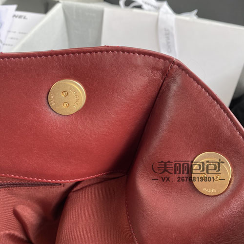 香奈儿新款tote包可变形 折叠手包 珍珠链条包切换自如