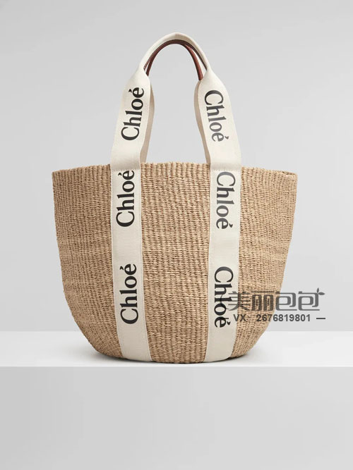 夏天流行的草编包 还有chloe Woody Basket
