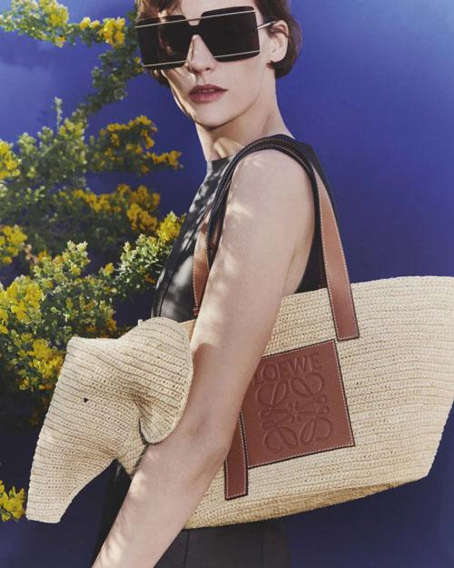 罗意威这个夏季的小象包 居然是草编loewe tote包
