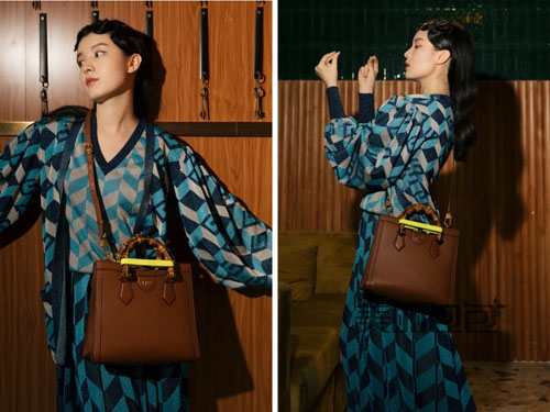 王妃包重归时尚圈!gucci diana竹节手提袋尺寸颜色大全