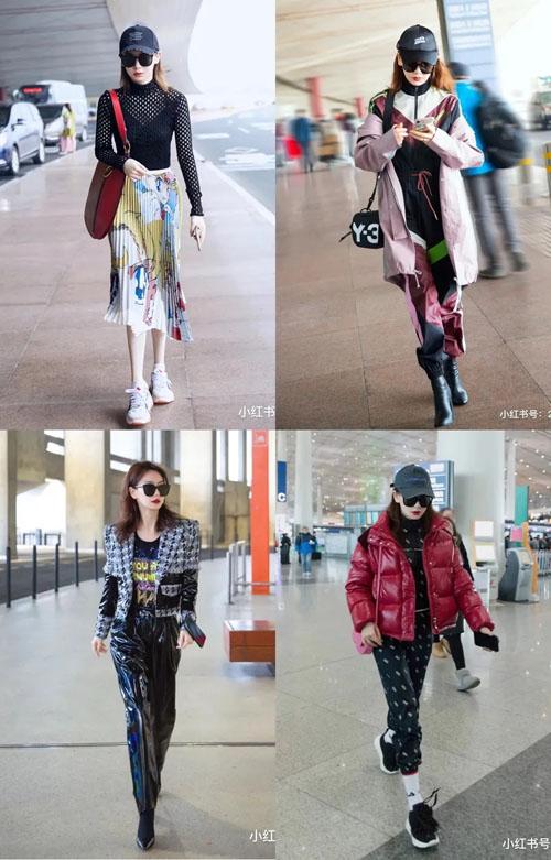 戚薇街拍秀时尚又秀恩爱 近期私服和包包盘点