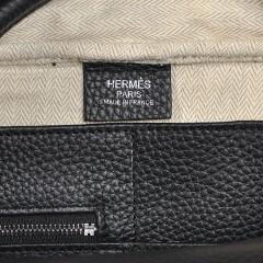 Hermes爱马仕新款男士旅行公文包 38CM steven史蒂夫黑色荔枝纹 H-92116B