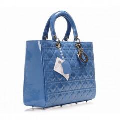 水蓝色漆皮迪奥包包 lady dior戴妃包9822LQY44550/44551
