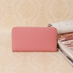 经典prada拉链女士钱包 进口原版牛皮十字纹普拉达钱包