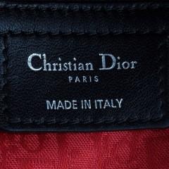 经典款lady dior戴妃包 进口原版黑色小羊皮银扣迪奥包99002HYY