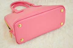 新款PRADA女包 嫩粉色十字纹牛皮普拉达贝壳包BL0812/BL0837/BL0838RFN