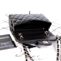 20cm新款迷你女包 黑色水晶漆皮classic flap香奈儿包包1116BQ