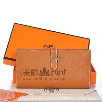 Hermes 2 flod wallet二折钱夹 原版手掌纹牛皮爱马仕钱包A208