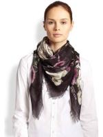 给你梦幻与神秘感的麦昆McQueen最新款纯羊绒围巾/大方巾