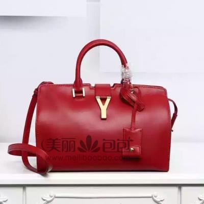 YSL圣罗兰新版手提包 宝石红色胎牛皮 正品最优311210