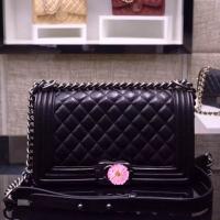 周迅同款小香包包 原版黑色羊皮LE BOY女包30172/67086BY