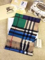 专柜级最优品质 Burberry巴宝莉最新款 拼色格纹羊绒围巾