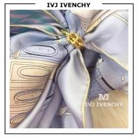 IVJ IVENCHY蓝色仙女款 独角兽与天空之城 斜纹真丝围巾
