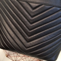 YSL圣罗兰2016新款Emmanuelle V斜纹胎牛皮水桶包11219860