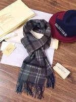 英伦风时尚格纹 巴宝莉BURBERRY男士新款 纯羊绒围巾