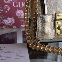 2016古琦专柜最新 时尚锁扣 最优Gucci Padlock迷你包409486
