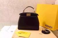 Fendi peekaboo mini原版小牛皮芬迪迷你包8BN244