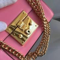 2016夏季粉色牛皮 最优古驰Gucci Padlock迷你锁扣包409486