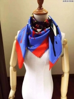 多彩潮流涂鸦图案 爱马仕Hermès真丝围巾方巾 女士披肩