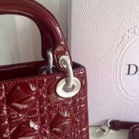 璀璨漆牛皮 3格迷你lady dior链条包 新版迪奥戴妃包