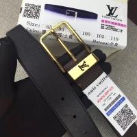 PONT NEUF 3.5cm腰带 荔枝纹双面牛皮LV皮带M6065U