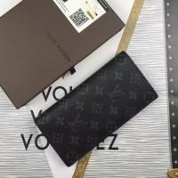 黑曜石男士系列LV钱包 两折长款BRAZZA钱夹M61697