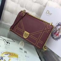 迪奥新款口盖包 diorAMA铆钉款链条包M0422
