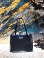 性冷淡风Prada Etiquette小号手袋 铆钉包1BG121