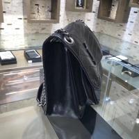 MONOGRAM YSLNIKI邮差包 复古爆裂纹牛皮498894