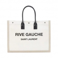 Rive Gauche Tote Bag印字布包 沙滩包 ysl左岸购物袋