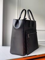 lv新款男士tote包图片与价格 grand sac棋盘格手袋M44733