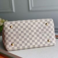 lv白格新款女包 Beaubourg Hobo编织手提包图片价格 N55090