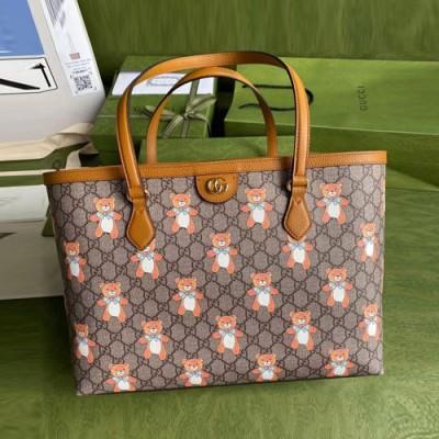 古驰泰迪熊联名款购物袋 gucci ophidia tote包631685