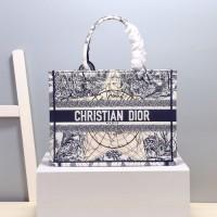 dior book tote刺绣织布购物袋 迪奥五角星新生地球系列